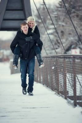 Regina Engagement Photographer - Quentin & Brittni - Wascana Creek Bridge
