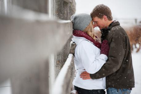 Regina Engagement Photographer - Stephen & Sara - Farm Fence