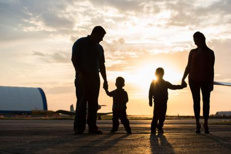 Favel family silhouette at the Regina Flying Club - Favel Family
