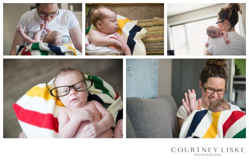 Cooper Newborn - Courtney Liske Photography - Regina Family Photographer - Stripe Spotting