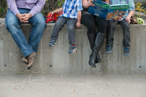 Family reading break at CBC Regina - Favel Family