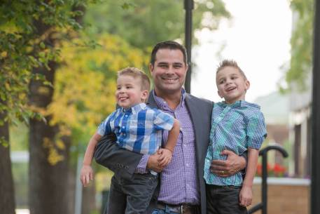Father and sons - Favel Family Photos 2016