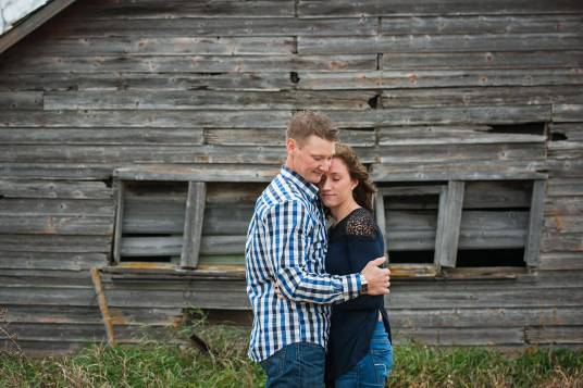 Mike & Tamzyn on the farm with Courtney Liske Photography