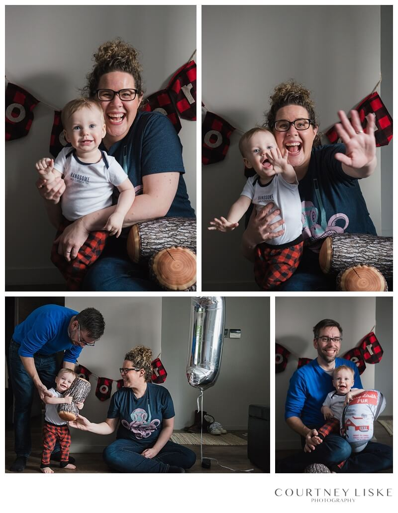 Cooper is One - Courtney Liske Photography - Regina Family Photographer - Lumberjack Family