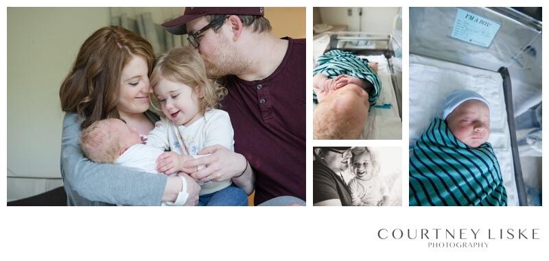 Oliver Newborn - Courtney Liske Photography - Regina Family Photographer - Hospital newborn session