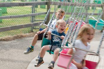 Childrens swings at Calaway Park