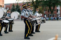 Courtney Liske Photography - Regina Family Photographer - RCMP - Sunset-Retreat Ceremony - RCMP Marching Band