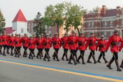 Courtney Liske Photography - Regina Family Photographer - RCMP - Sunset-Retreat Ceremony - RCMP Red Serge