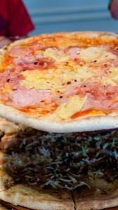 Polynesian Princess pizza at Double Zero Pizza Chinook Centre