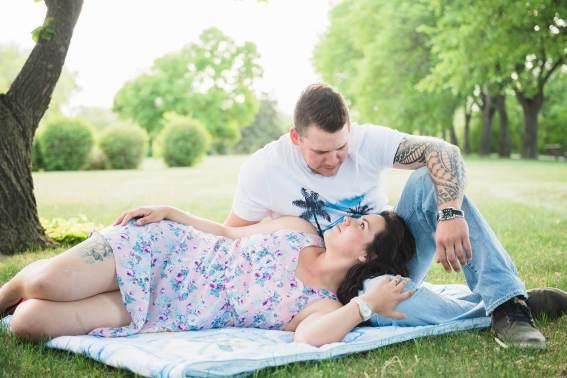 Regina Engagement Portfolio - Johnny-Rene - In the Park