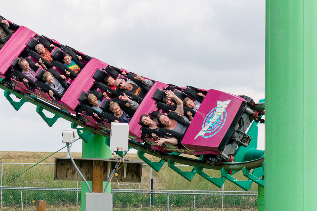 Riding the Vortex at Calaway Park