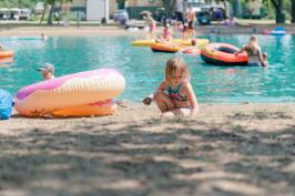 Summer day sand castles