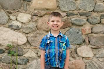 Little boy smiling in Indian Head