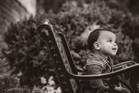 Regina Family Photographer - Jaarsma Family - Jonah on a bench
