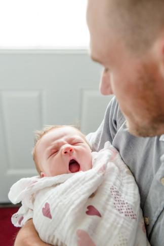 Regina Newborn Photographer - Avonlea - Yawning
