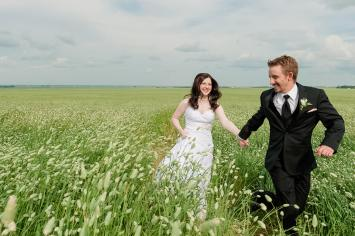 Regina Wedding Photographer - Keith & Janel - Running