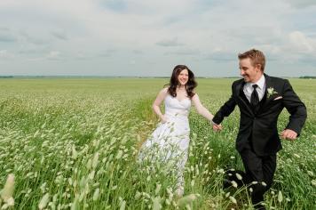 Regina Wedding Photographer - Keith & Janel - Running