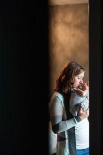 Baby boy newborn photography session
