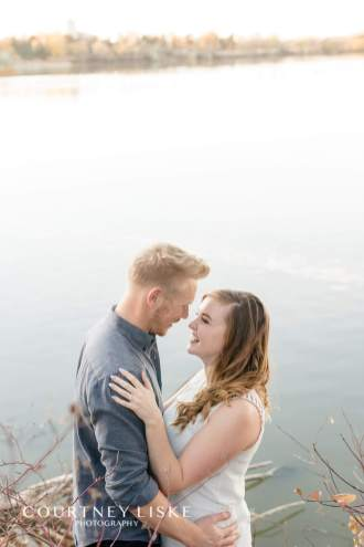 Couple together in Wascana Park