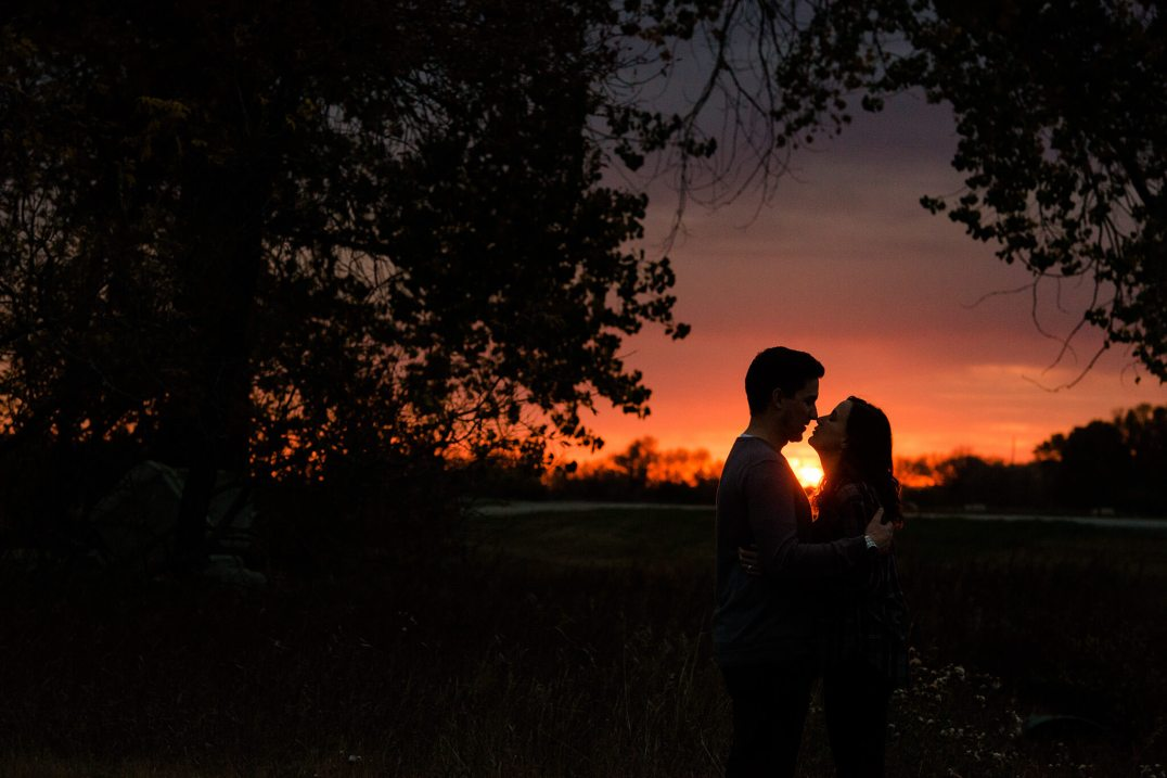 Swereda sunset silhouettes