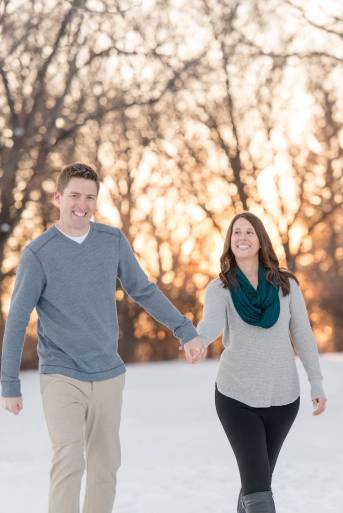 Cory & Kelsey walking through Wascana Park
