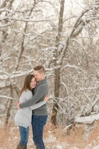 Regina Engagement Photographer - Mark-Kyra - Snowy Trees