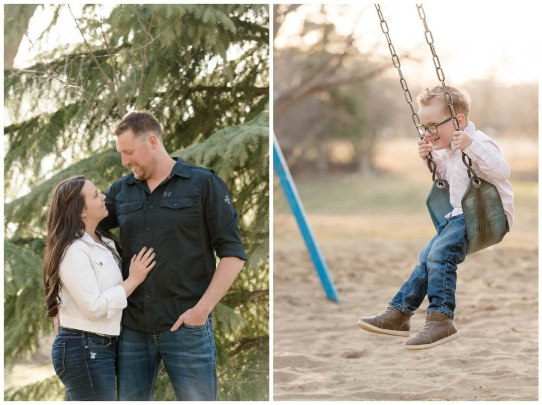 Travis & Coralynn Regina Engagement Session- Engagement session at Wascana playground