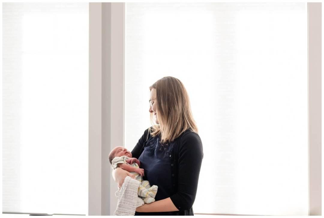 Pilot Butte Newborn Photography - Olsen-Jennifer - Window lit newborn
