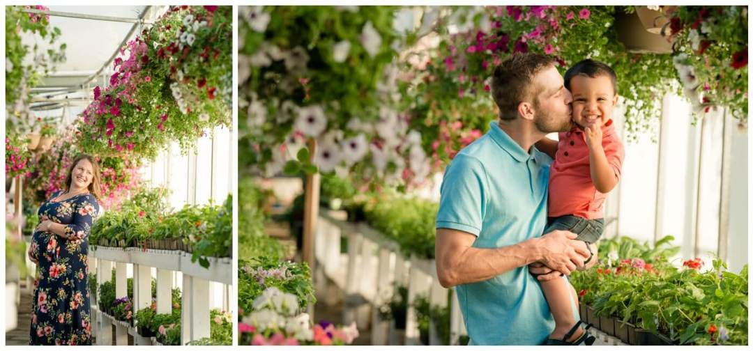 Regina Family Photography - Justin-Charissa-Jonah - Regina greenhouse