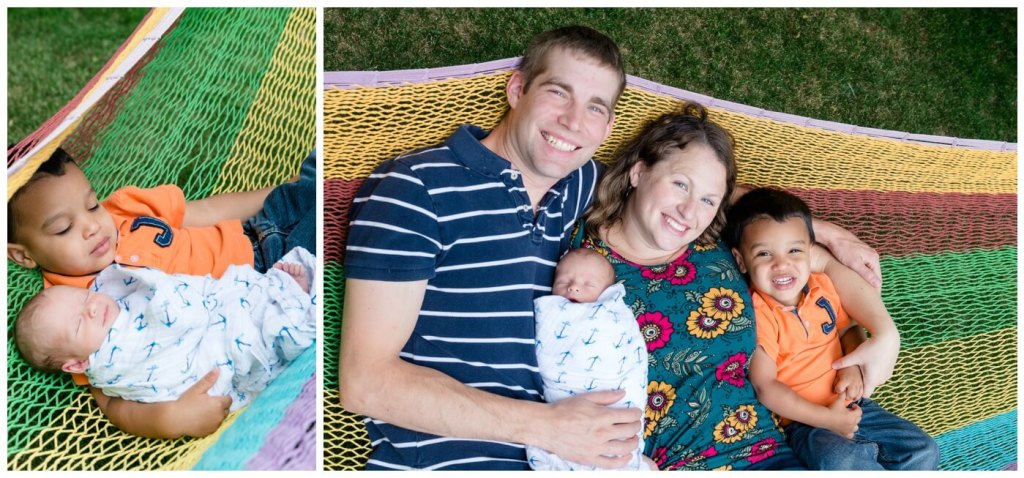 Regina Family Photographer - Justin-Charissa-Jonah-Avery - Family Hammock