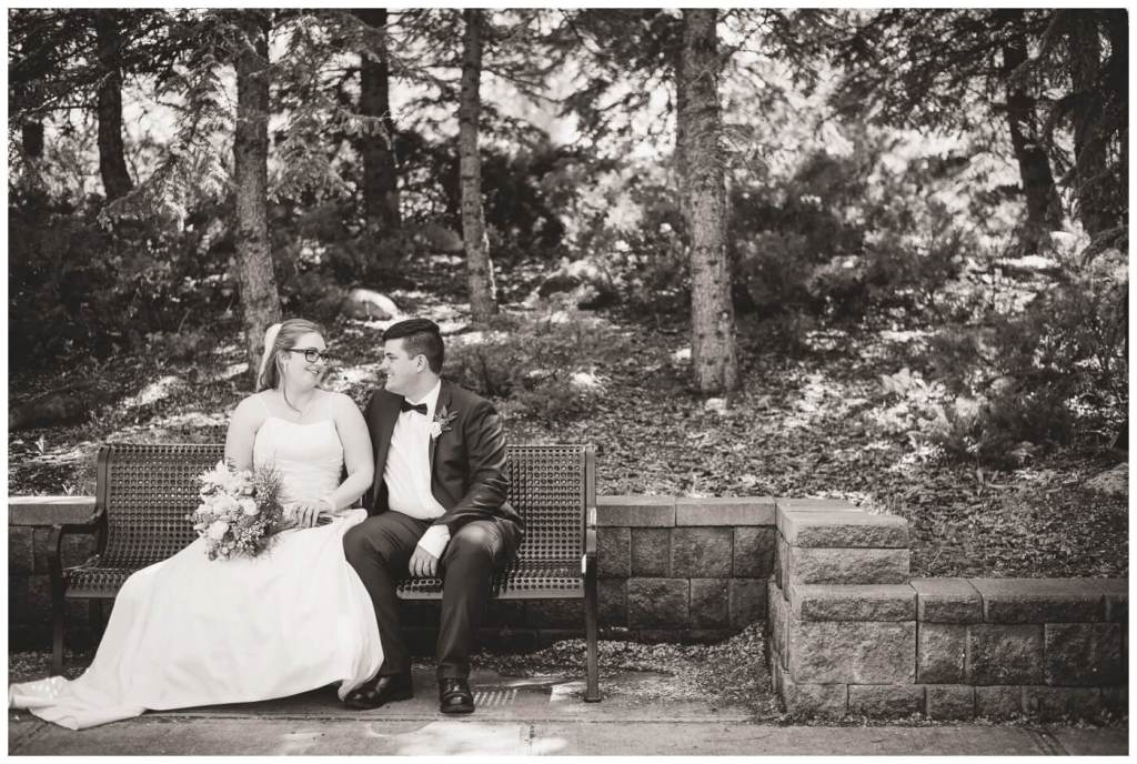 Regina Wedding Photographers - Luke-Tori - Park Bench in Kiwanis Park