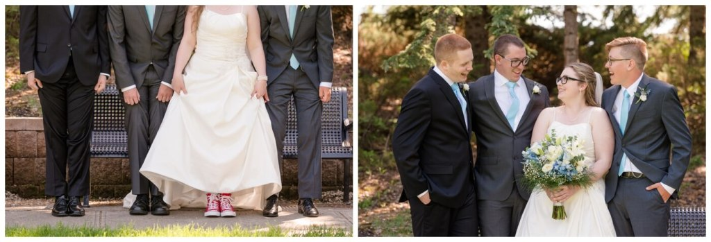 Regina Wedding Photography - Bride - Tori- Sneakers - Kiwanis Park
