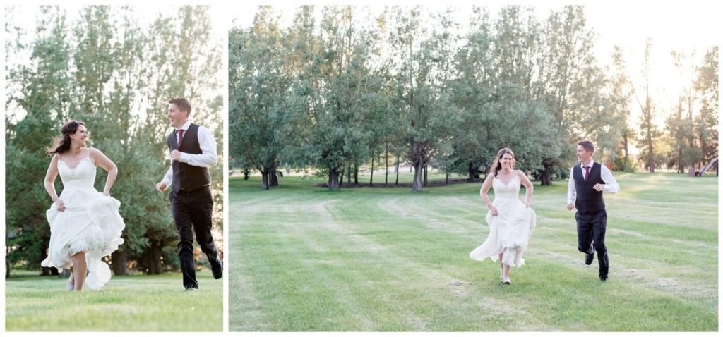 Regina Wedding Photography - Cory-Kelsey - Running through Wascana Park