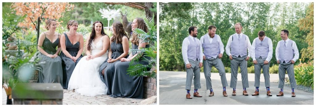 Regina Wedding Photography - Travis-Coralynn - Porcupine Plain - Bridal Party Laughter