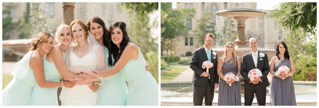 Regina Wedding Photographer - Gord-Mackenzie - Bridesmaids - Groomsmaids - Groomsman - Trafalgar Fountain