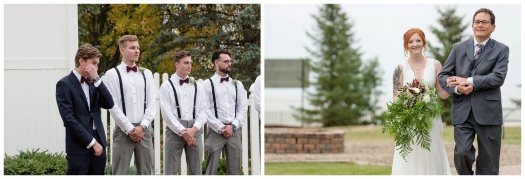 Regina Wedding Photography - Cole-Alisha - Fall Wedding - First Look - Zadack Holdings
