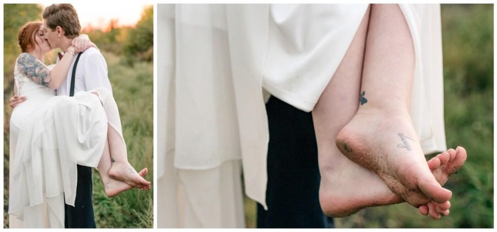 Regina Wedding Photography - Cole-Alisha - Zadack Holdings - Barefoot - Always - Harry Potter
