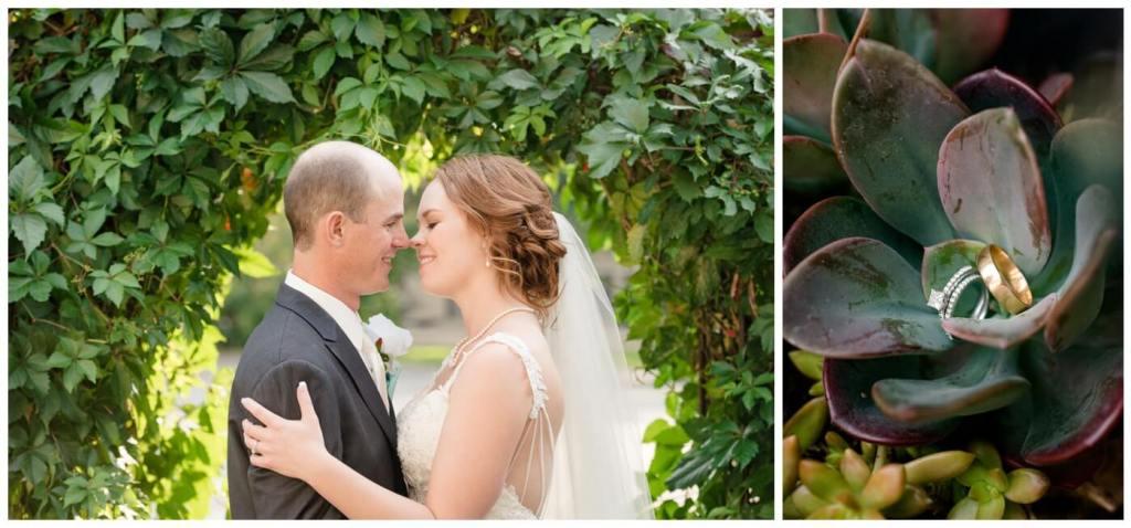Regina Wedding Photography - Gord-Mackenzie - Bridal & Groom Formals - Wedding Ring Succulents