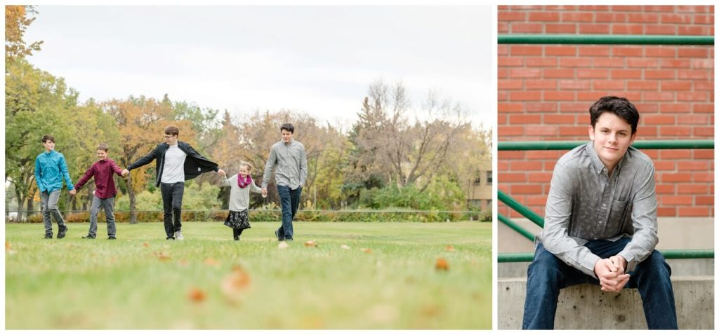 Regina Family Photographer Butler Family - Susan-Matt-Josiah-Lucas-Caris-Aaron-Nathan - Fall Family Session - Wascana Park