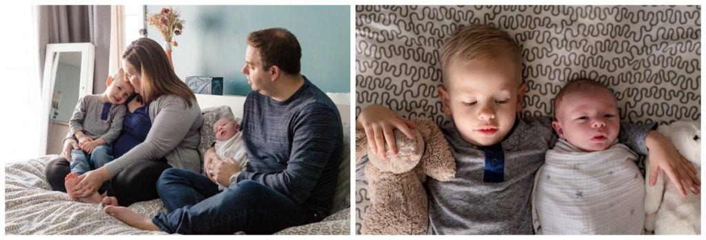 Regina Family Photographer - Jensen Newborn - Keltie - Josh - Kayden - In home Family Session