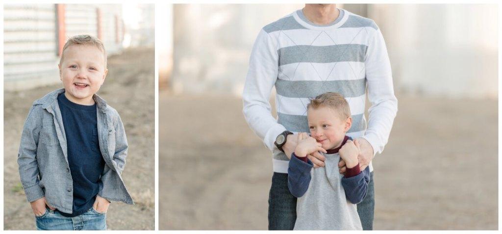 Regina Family Photographer - Neufeld Family - Mike-Elias-Jarren - Fall Family Session - Farmyard - Waldheim