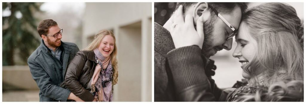 Regina Engagement Photography - Regina Wedding Photographer - Mitch-Latasha - Winter Engagement - TC Douglas Building - MacKenzie Art Gallery - Cookie Monster