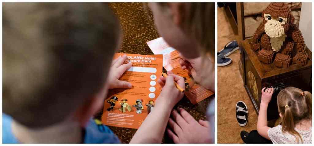 Regina Family Photography - Legoland California - Liske Family Travels - Legoland Hotel Lobby - Treasure Hunt