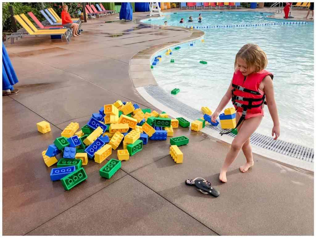 Regina Wedding Photography - Legoland California - Liske Family Travels - Legoland Hotel Pool - Lego Foam Blocks