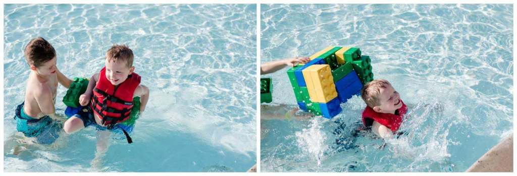 Regina Wedding Photography - Legoland California - Liske Family Travels - Legoland Hotel Pool - Lego Foam Blocks - Floating Chair