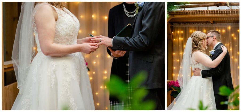 Regina Wedding Photographers - Dave - Sarah - Wedding - Regina Floral Conservatory - Vows - Exchange of Rings