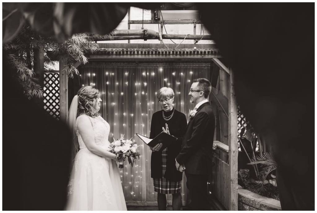 Regina Wedding Photography - Dave - Sarah - Wedding - Regina Floral Conservatory - Marriage Commissioner - Barbara Jones