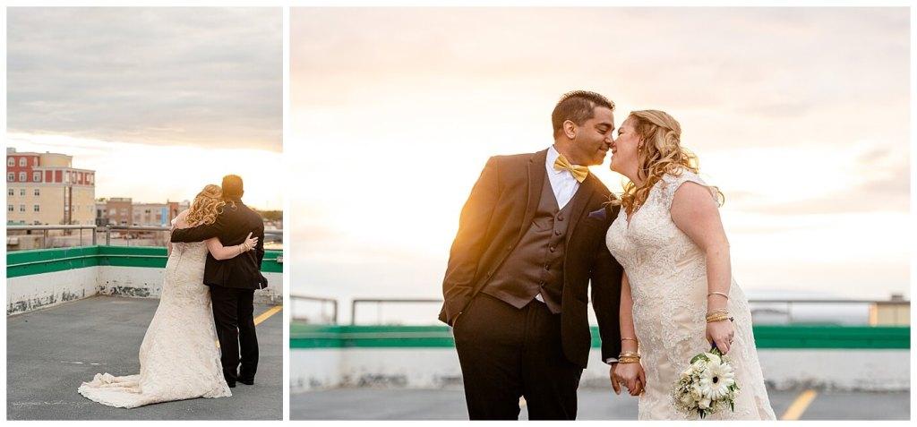 Regina Wedding Photography - Nishant - Corrina - Sunset Photos - Bride & groom embracing each other