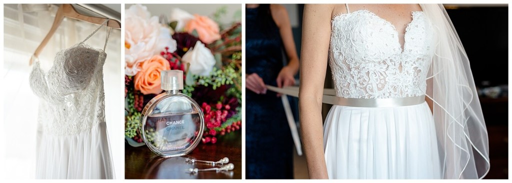 Scott & Keely - Regina Wedding - Bridal Prep, wedding dress, and perfume