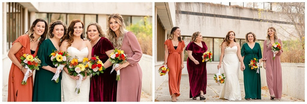 Regina Wedding Photographer - Tim & Jennelle At Home Wedding - Bridesmaids at TC Douglas Building